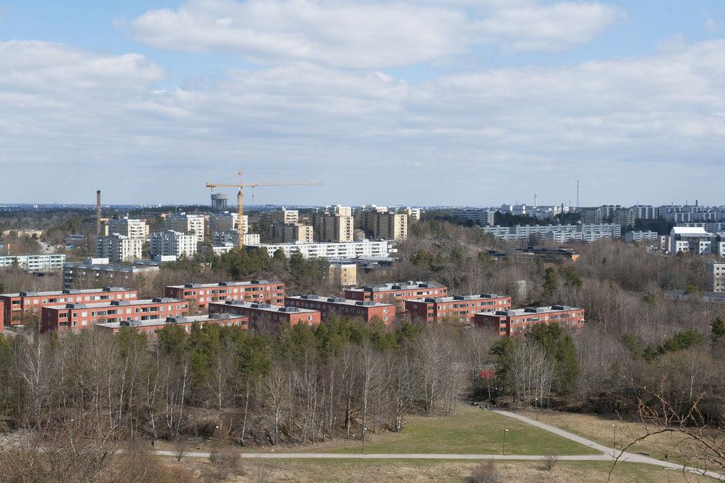Utsikt från Vårbergstoppen