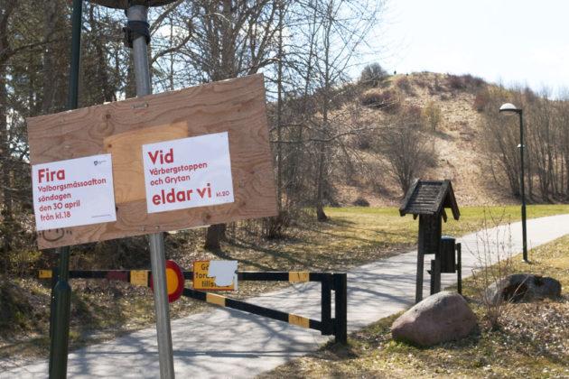 Valborg vid Vårbergstoppen