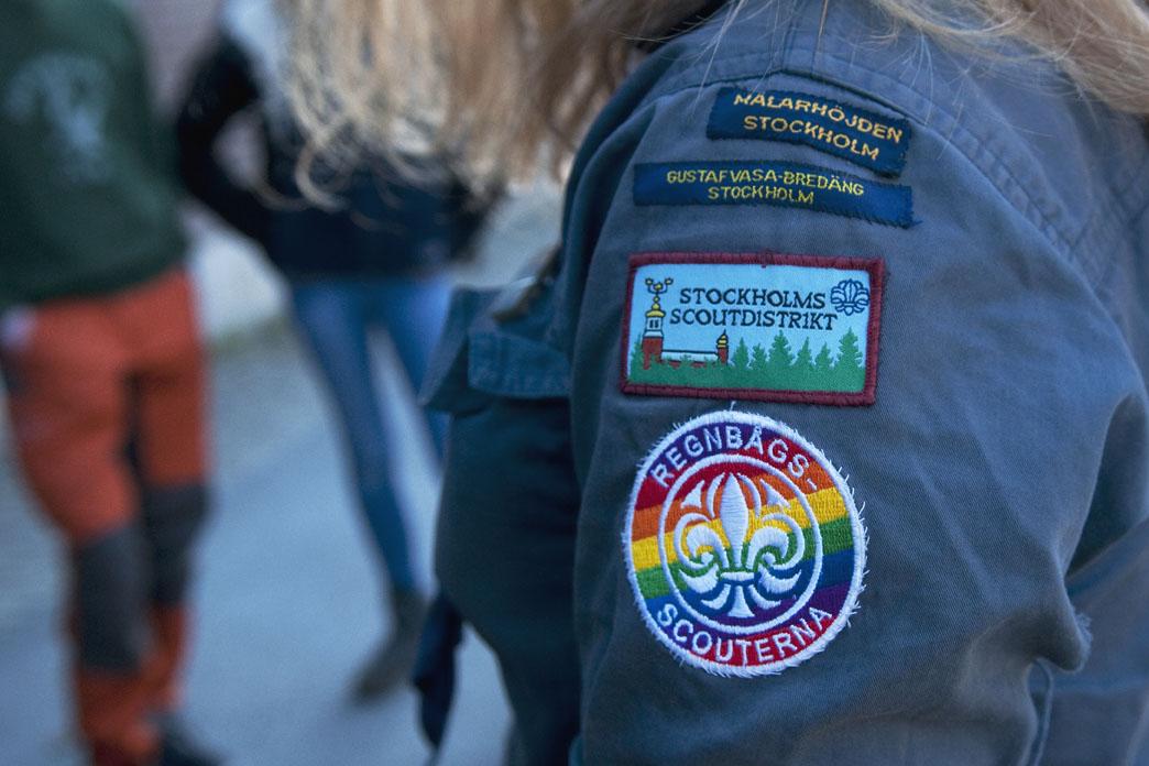 Scoutmärken på skjorta