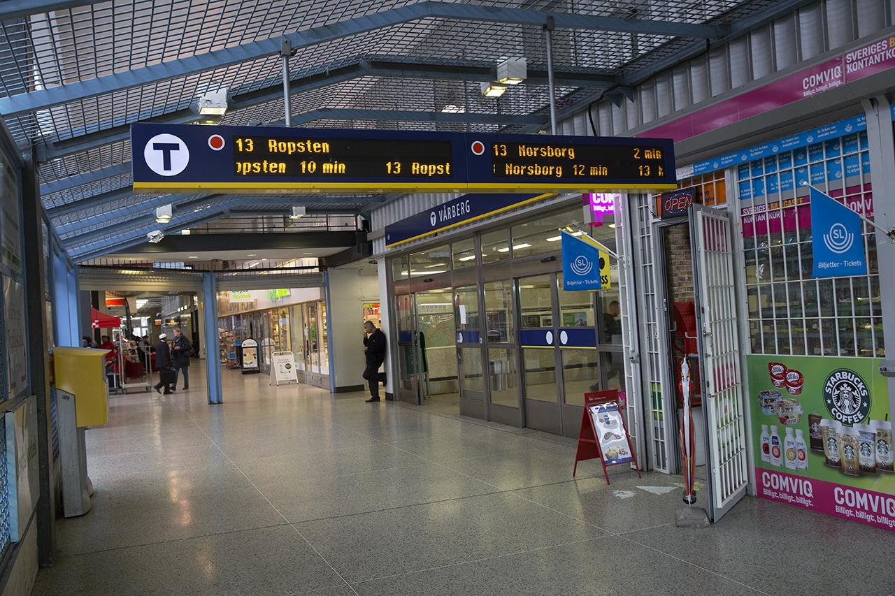 Ingång Vårbergs tunnelbana