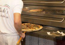 Nygräddade pizzor