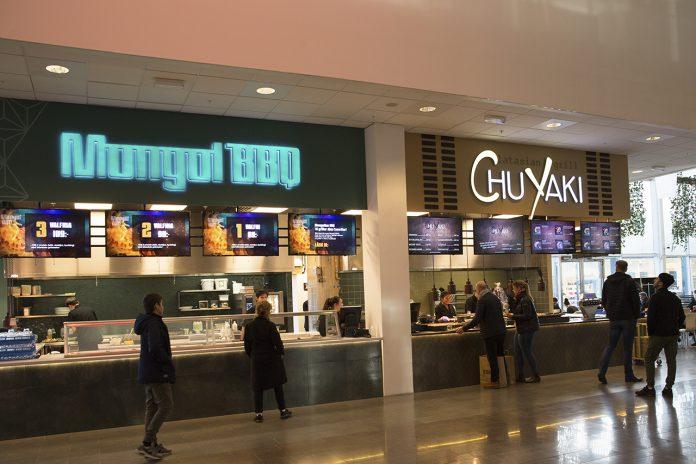 Mongol BBQ och Chu Yaki i SKHLM foodcourt