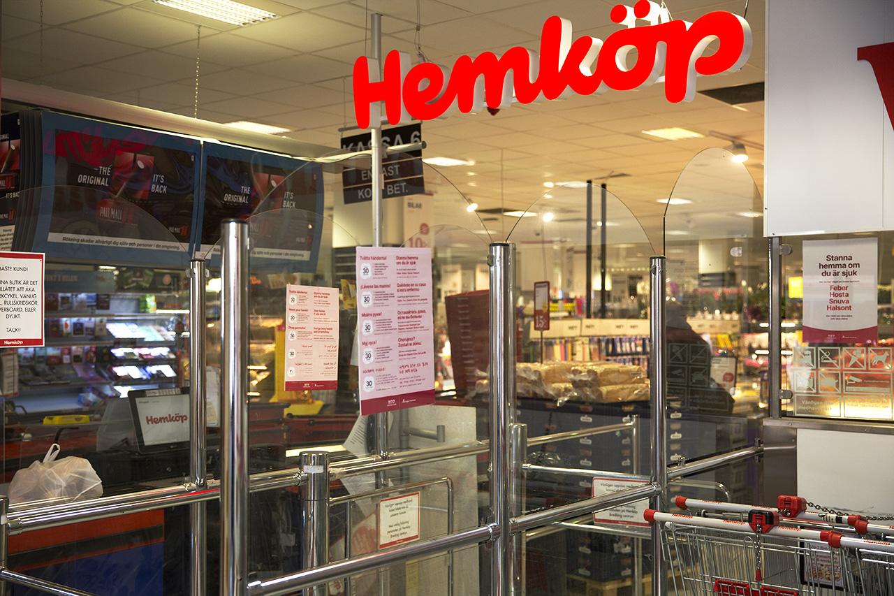 Butiksingång Hemköp Bredäng