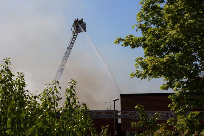 Ny svårsläckt brand i Slättgårdsskolan