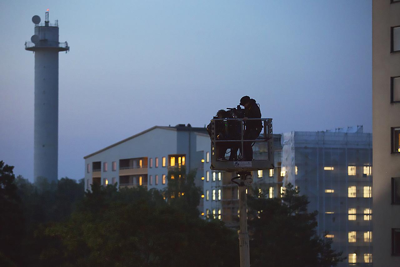 Filmare i skylift Bredäng