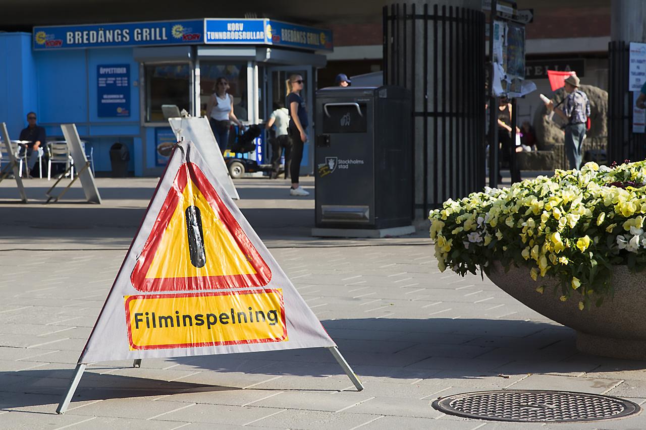 Filminspelning Bredängstorget